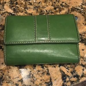 Green Coach Wallet